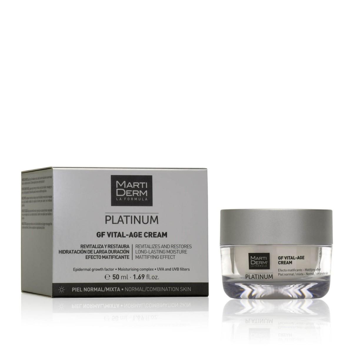 Дневной крем для нормальной/смешанной кожи Martiderm Platinum GF Vital-Age Cream